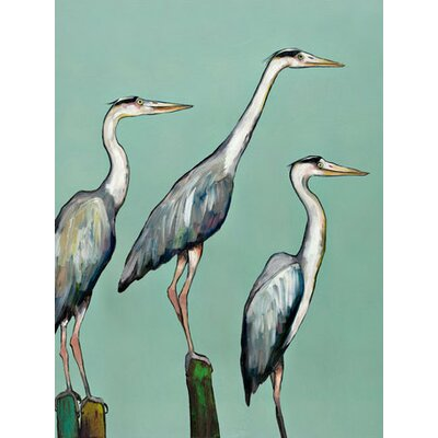 'Heron Focus' by Eli Halpin Painting Print on Wrapped Canvas