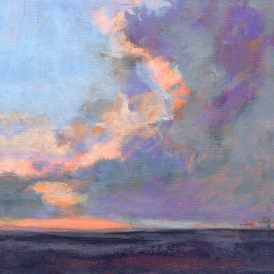 'Just After Sunset' by Petite Malou Painting Print on Wrapped Canvas