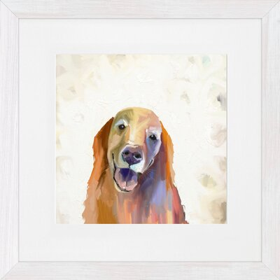 'Best Friend Golden Retriever' by Cathy Walters Framed Painting Print