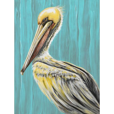 'Pelican Bay' by Karin Grow Painting Print on Canvas