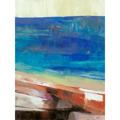 Blue Ocean by Siri Selle Painting Print on Wrapped Canvas Size: 40 H x 30 W x 1.5 D