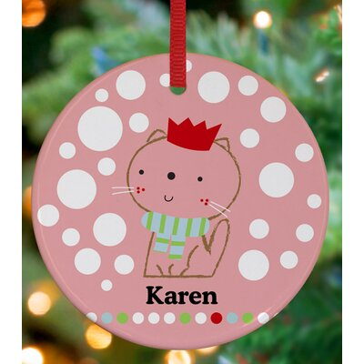 Queen Cat Personalized Ornament by Jillian Phillips