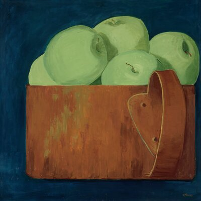 'Green Apples' by Judith Jarcho Painting Print on Canvas
