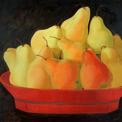 'Yellow Pears' by Judith Jarcho Painting Print on Canvas