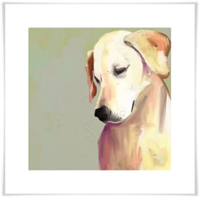 'Best Friend - Yellow Lab' by Cathy Walters Painting Print