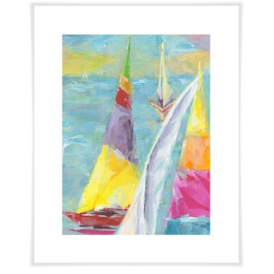 'Painted Sailboat' by Susan Pepe Painting Print