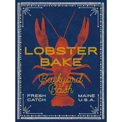 'Lobster Bake' Graphic Art on Canvas