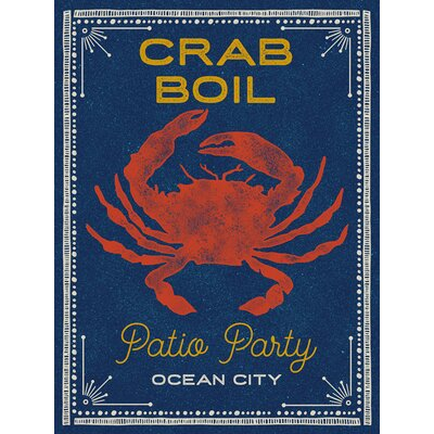 'Crab Boil' Graphic Art on Canvas