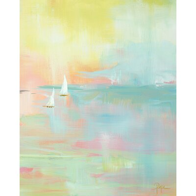 'Painted Sunset' by Susan Pepe Painting Print on Canvas Size: 24 H x 18 W x 1.5 D
