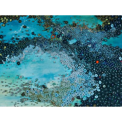 'Deep Sea Current' by Amy Genser Painting Print on Wrapped Canvas