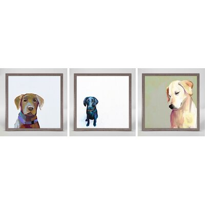 Best Friends by Cathy Walters 3 Piece Framed Painting Print on Canvas Set Dog Theme: For the Love of Labs