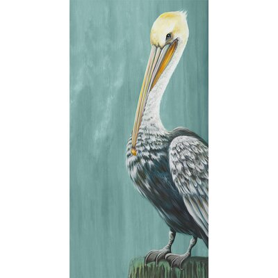 'Pelican Landing' by Karin Grow Graphic Art on Canvas