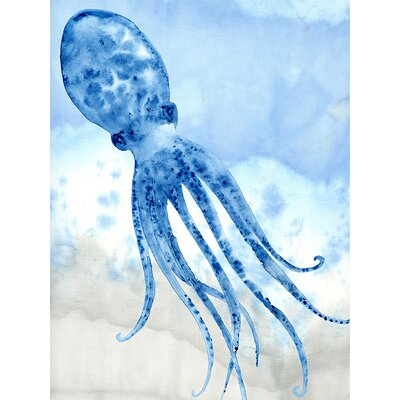 Coastal Watercolors - Octopus by Shannon Newlin Graphic Art on Canvas
