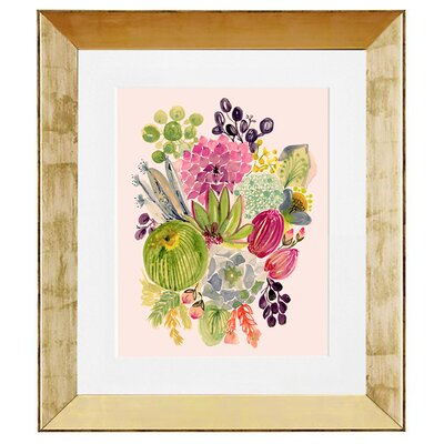 'Succulent Bouquet I' by Shannon Newlin Framed Painting Print