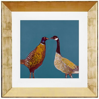 'Pheasant and Goose' by Eli Halpin Framed Painting Print