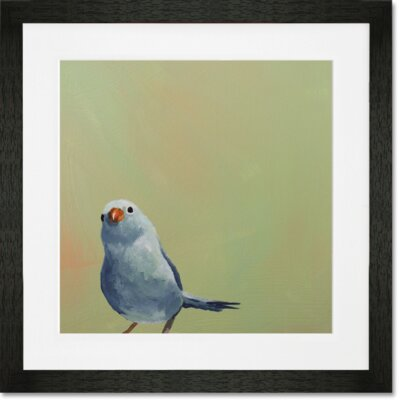'Little Blue Bird' by Mincing Mockingbird Framed Painting Print