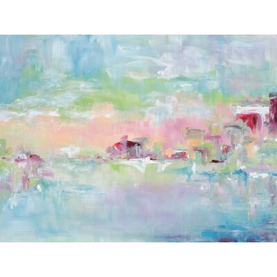 'Watercolor Painted Sky' Watercolor Painting Print on Wrapped Canvas Size: 10