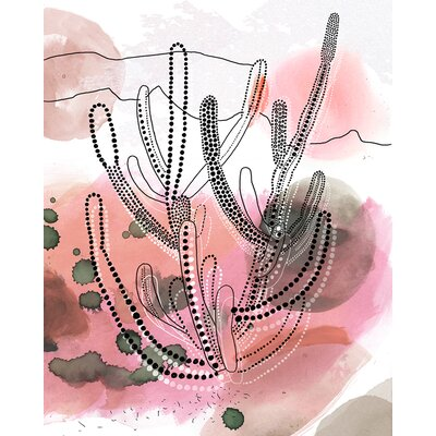 'Organ Pipe Cactus' Print on Wrapped Canvas Size: 14
