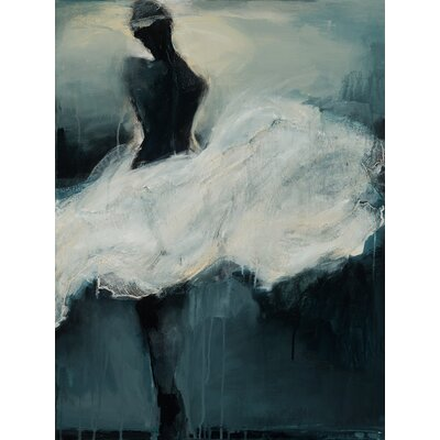 'White Skirt' Print on Wrapped Canvas Size: 14