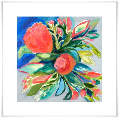 'Bold & Bright Florals II' by Laura Dro Acrylic Painting Print Size: 11.5