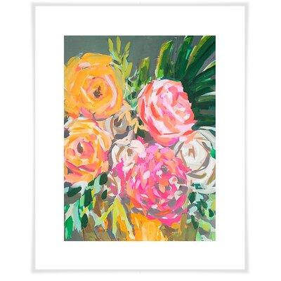 'Fifties Flowers' by Maren Devine Acrylic Painting Print on Paper Size: 12.5