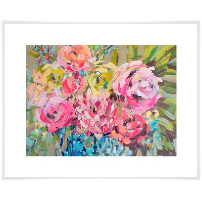 'Ginger Jar Florals' by Maren Devine Acrylic Painting Print on Paper