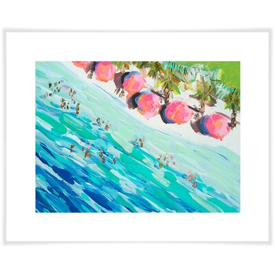 'Overhead Beach' by Maren Devine Acrylic Painting Print on Paper Size: 10.5