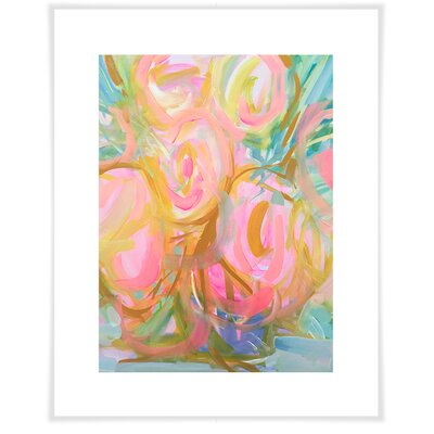 'Watercolor Pink Roses' by Maren Devine Acrylic Painting Print on Paper Size: 12.5