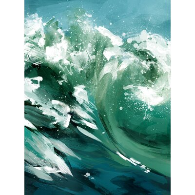 'Ride The Wave' Acrylic Painting Print Size: 12.5