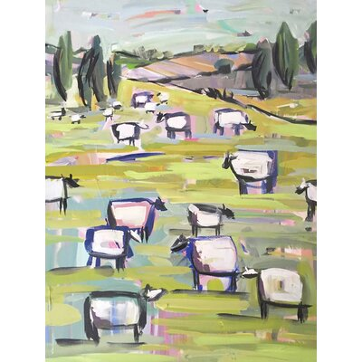 'Sheep Pastel' Acrylic Painting Print Size: 12.5