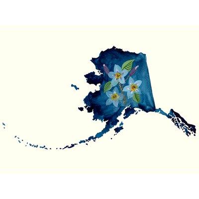 'State Flowers - Alaska' Acrylic Painting Print Size: 10