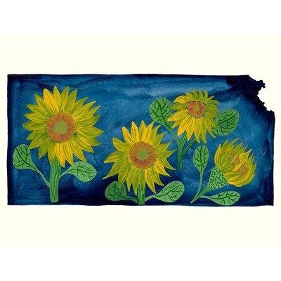 'State Flowers - Kansas' Acrylic Painting Print Size: 10