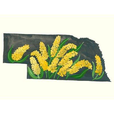 'State Flowers - Nebraska' Acrylic Painting Print Size: 10
