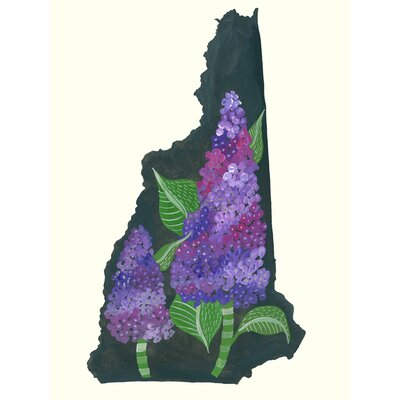 'State Flowers - New Hampshire' Acrylic Painting Print Size: 12.5