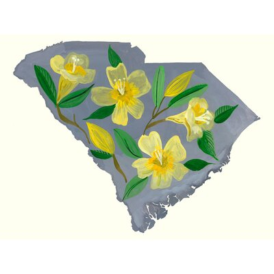 'State Flowers - South Carolina' Acrylic Painting Print Size: 10