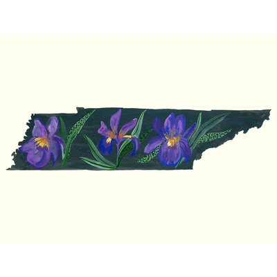 'State Flowers - Tennessee' Acrylic Painting Print Size: 10
