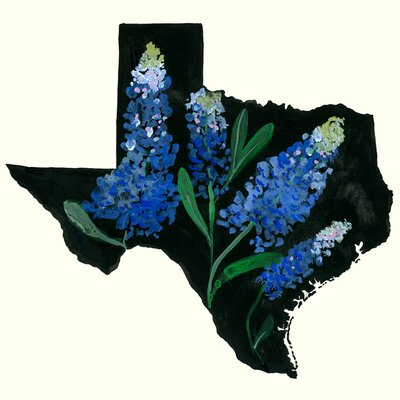 'State Flowers - Texas' Acrylic Painting Print Size: 10