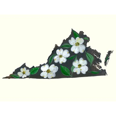 'State Flowers - Virginia' Painting Print Size: 10