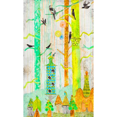 '11 Starlings - 1' Acrylic Painting Print on Wrapped Canvas Size: 32
