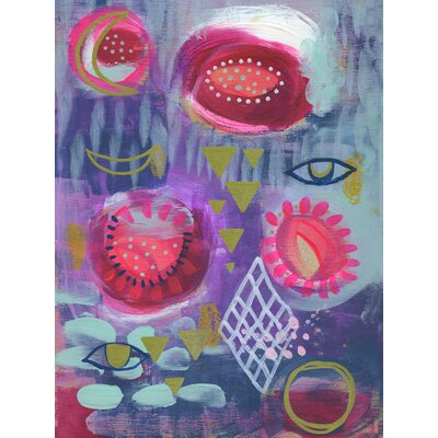 'Ojos Azules' Acrylic Painting Print Size: 12.5