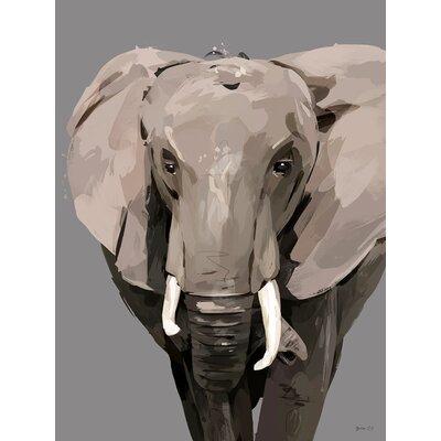 'Flocks & Herds - Demi the Elephant' Acrylic Painting Print Size: 12.5