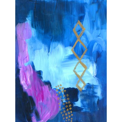 'Deep Indigo' Acrylic Painting Print