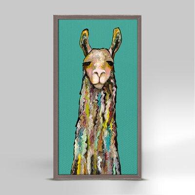 'Llama' Framed Acrylic Painting Print on Canvas