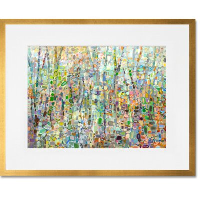 'Abstract Forest' Framed Acrylic Painting Print
