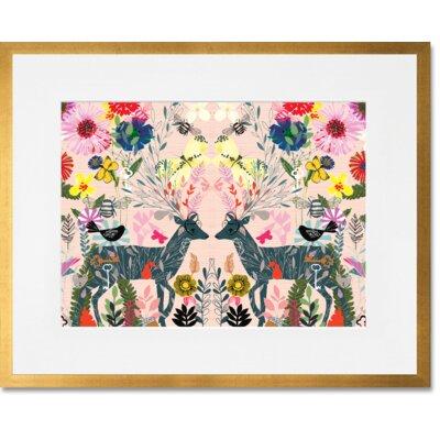 'Hyper Lush' Framed Graphic Art Print Format: Gold Frame, Size: 13