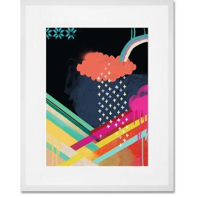 'Sky Quake' Framed Graphic Art Print Format: White Frame, Size: 15