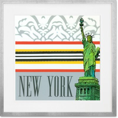 'Take Me Away - New York' Framed Graphic Art Print Format: Silver Frame, Size: 14