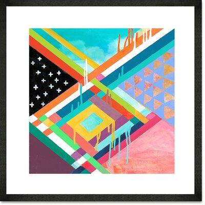 'Dreamer' Framed Acrylic Painting Print Format: Black Frame, Size: 14