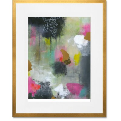 'New Beginnings 1' Framed Acrylic Painting Print Format: Gold Frame, Size: 15