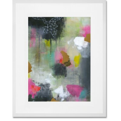 'New Beginnings 1' Framed Acrylic Painting Print Format: White Frame, Size: 15